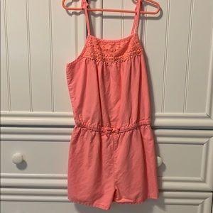 Girls Pink Romper (Size 8)